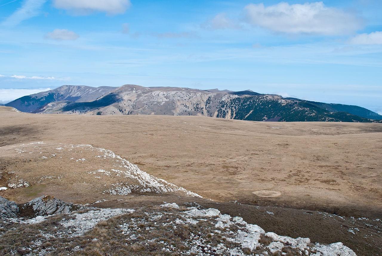 Вершины гор на Гурзуфской яйле