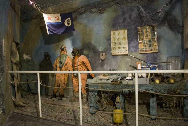 Экспонаты музея морских катастроф