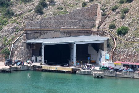 Завод по ремонту подводных лодок в Балаклаве