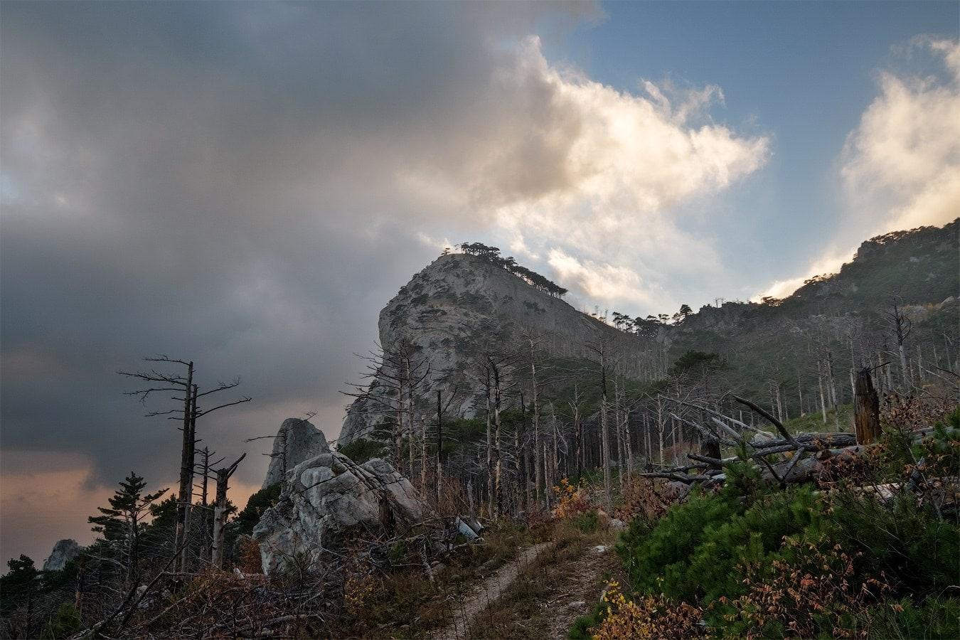 Шаан-Кая в облаках