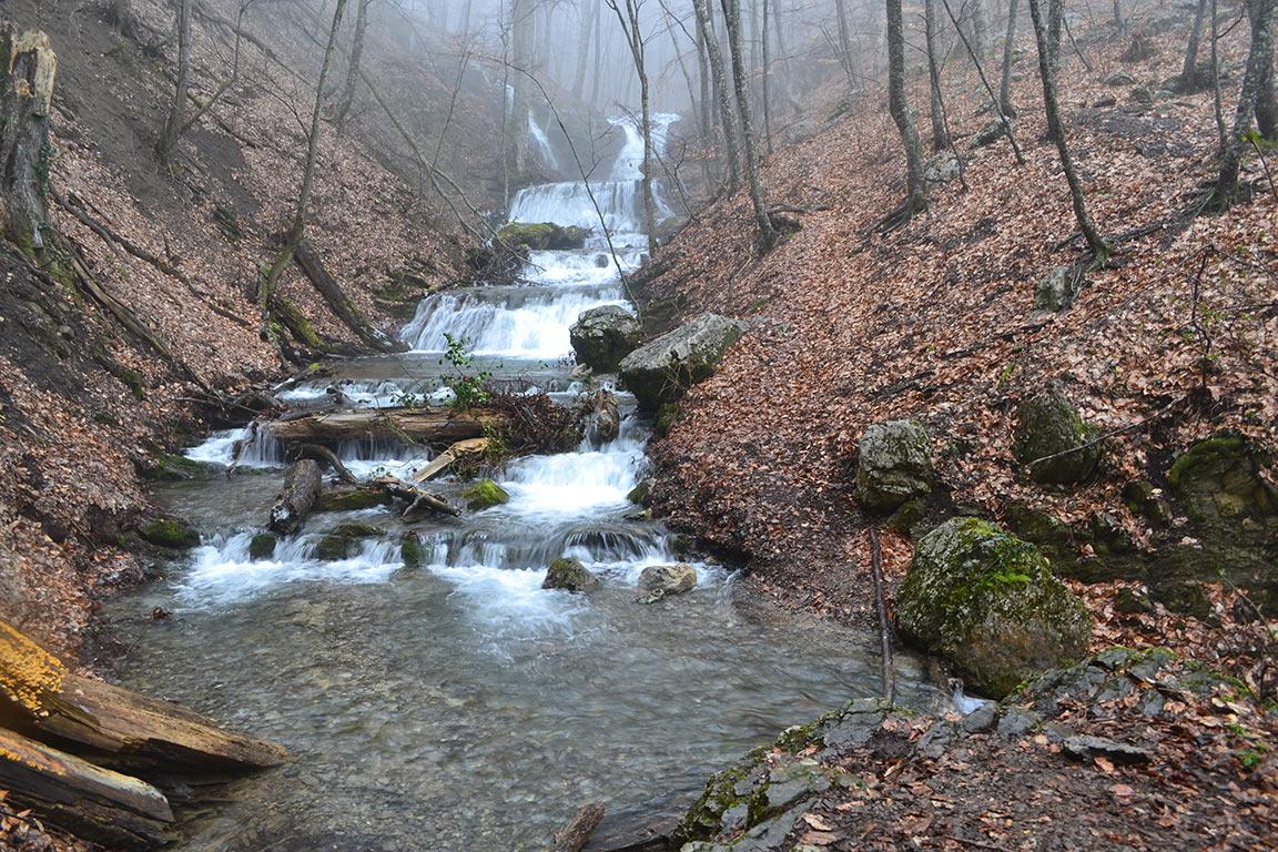 Водопад Головкинского (ущелье Яман-Дере)