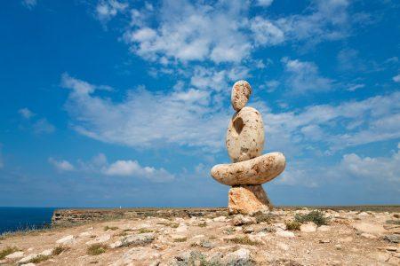 """Скульптура """"Мыслитель. Сердце Тарханкута"""""""